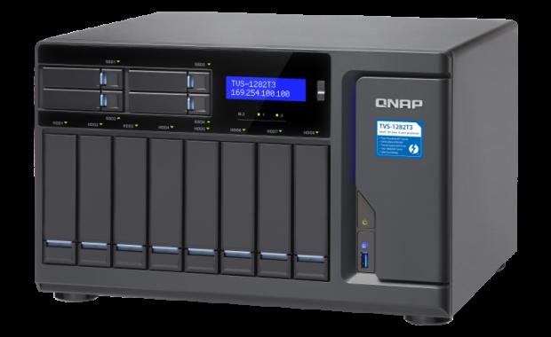 Revisión: QNAP TVS-1282T3 NAS es un centro de almacenamiento para su equipo de producción