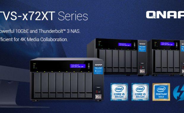 QNAP presenta el nuevo NAS 10GbE y Thunderbolt 3 de la serie TVS-x72XT